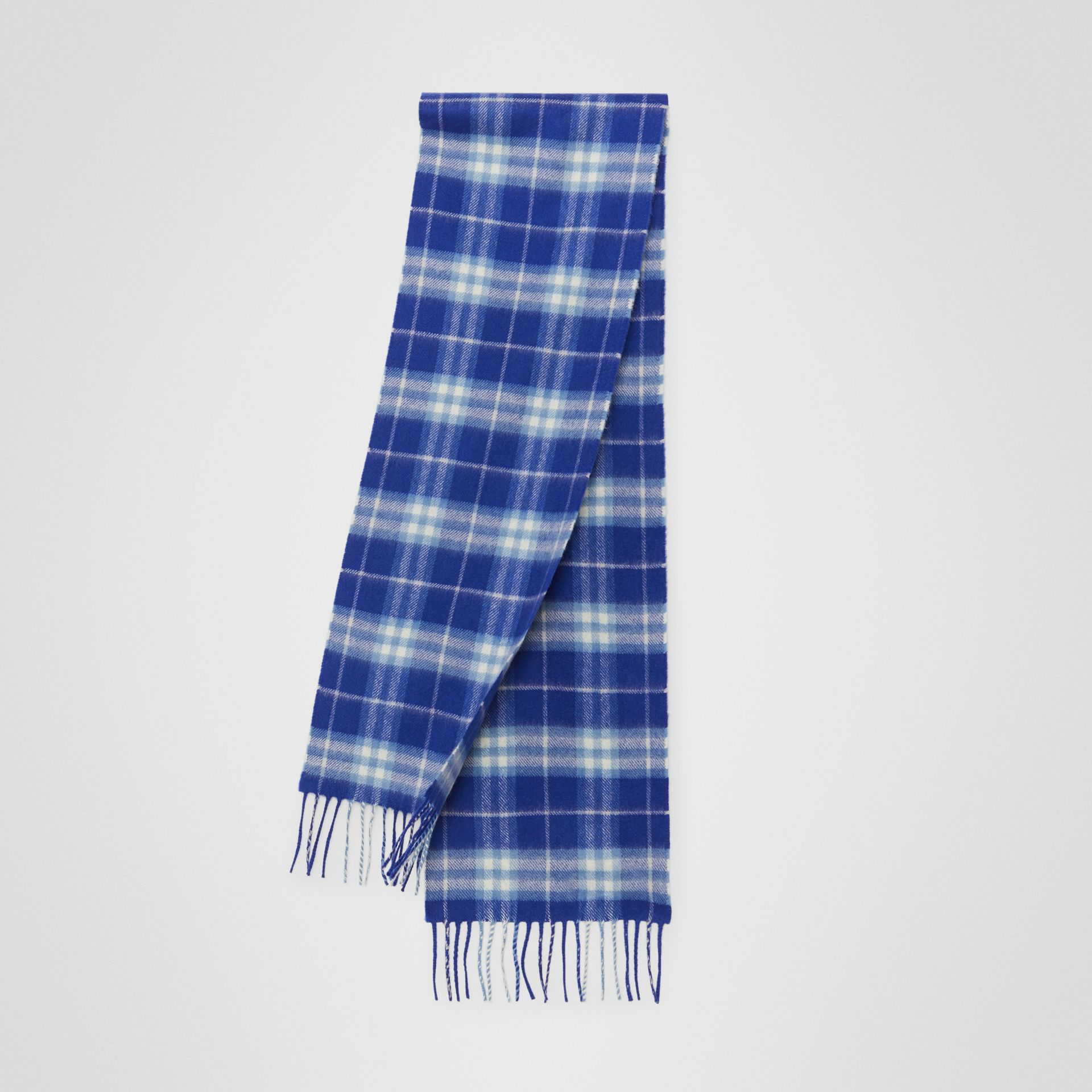 The Mini Classic Vintage Check Cashmere Scarf in Bright Lapis - Children | Burberry United States - gallery image 0