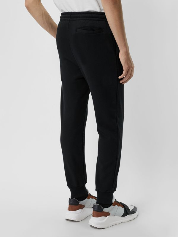 Chequer EKD Cotton Trackpants in Black - Men | Burberry United Kingdom - cell image 2