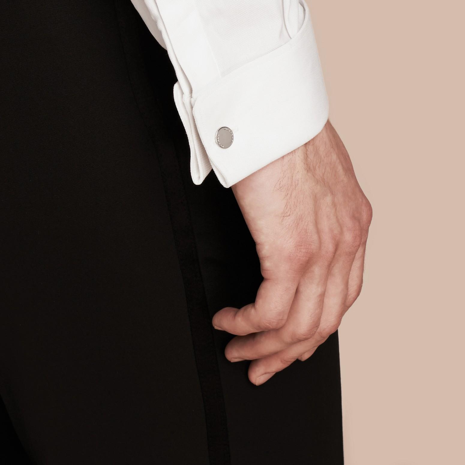 Schwarz Smokinghose aus Schurwolle - Galerie-Bild 5