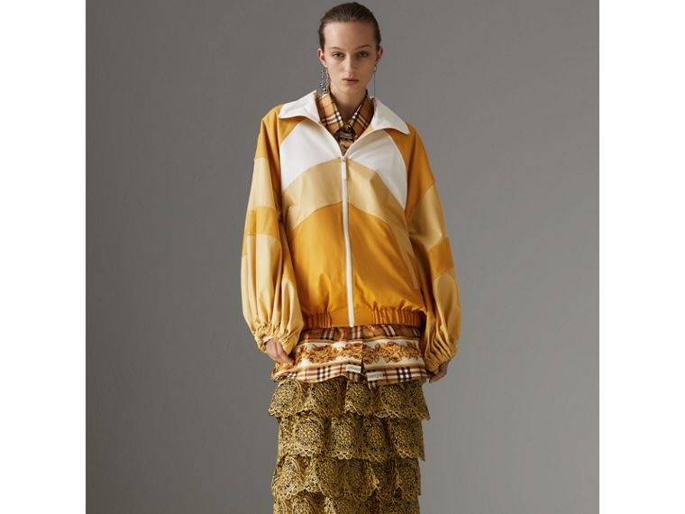 Archive Scarf Print Silk Shirt in Antique Yellow - Women | Burberry - cell image 4