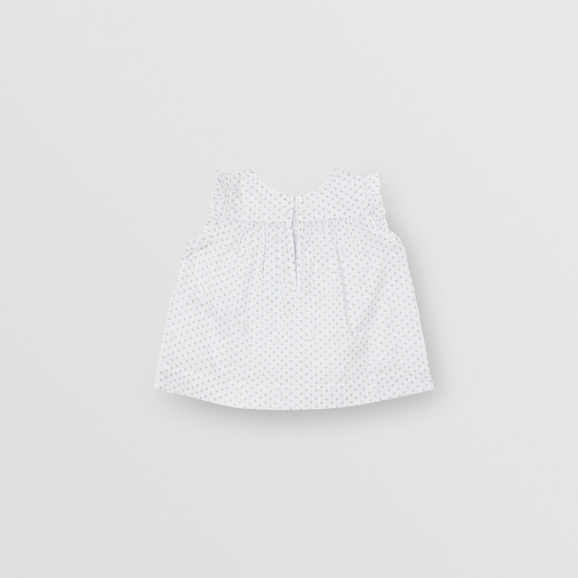 Polka Dot Cotton Three-piece Baby Gift Set in Natural White - Children | Burberry - gallery image 6