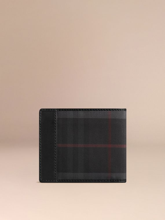Horseferry Check ID Wallet in Charcoal/black - Men | Burberry - cell image 2
