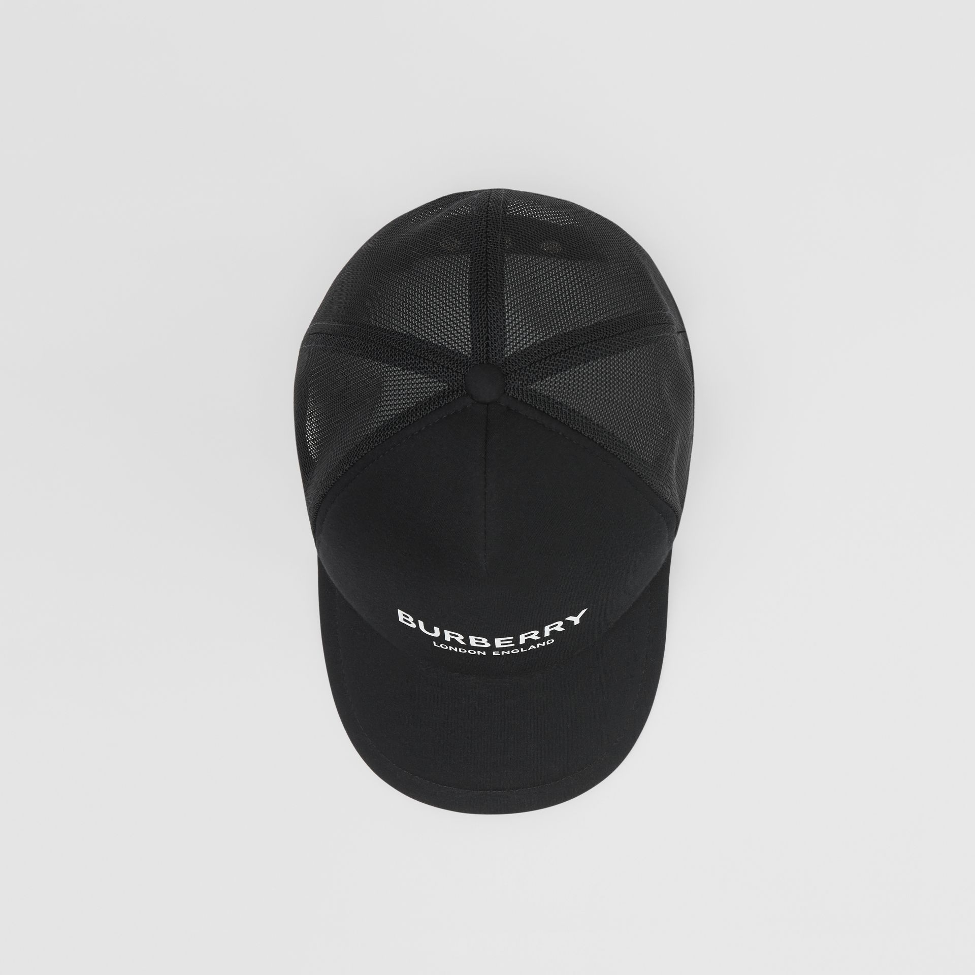 Logo Print Baseball Cap in Black | Burberry - gallery image 0
