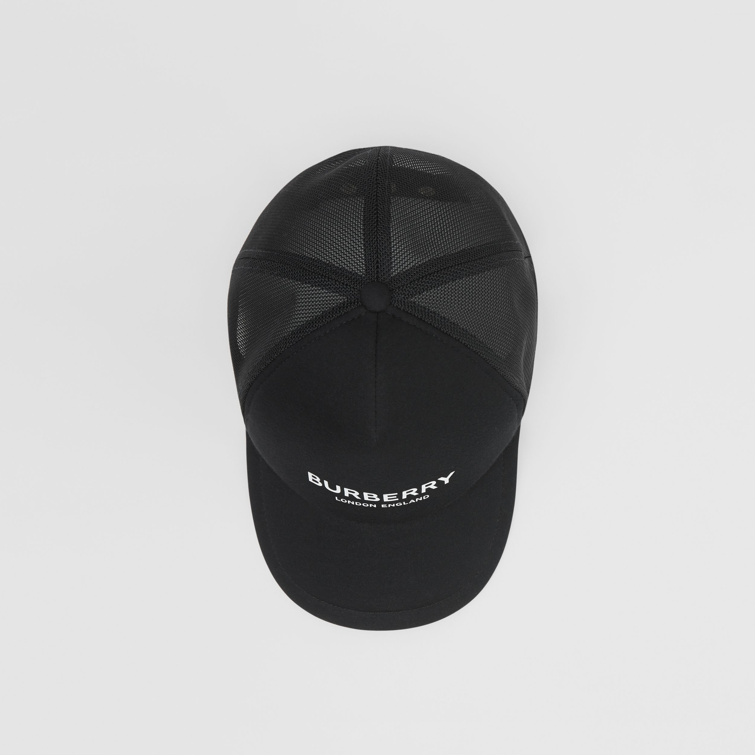 Logo Print Baseball Cap in Black | Burberry - 1