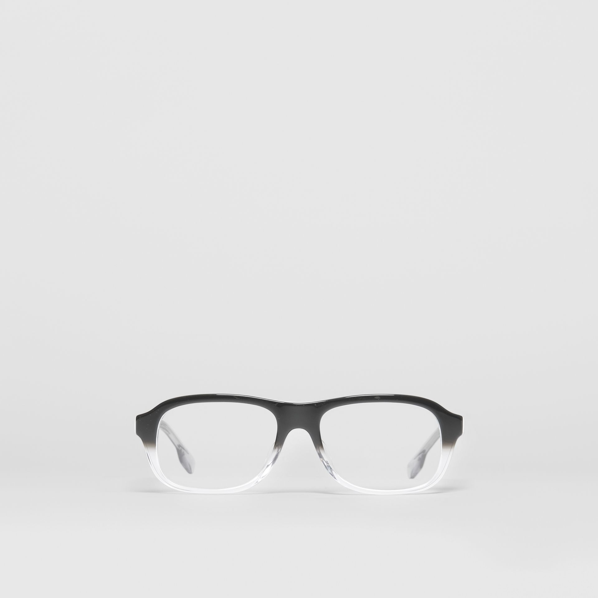 Gradient Detail Rectangular Optical Frames in Black - Men | Burberry - gallery image 0