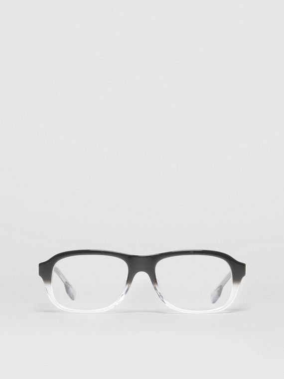 Gradient Detail Rectangular Optical Frames in Black