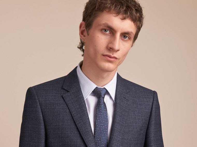 Slim Fit Lightweight Wool Part-canvas Suit - Men | Burberry Singapore - cell image 4