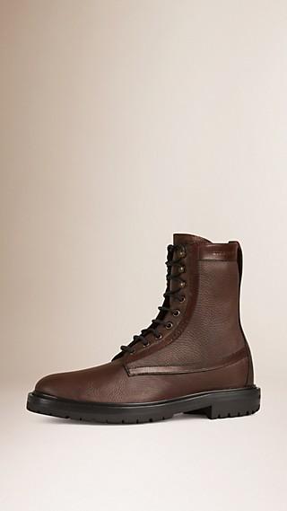 Deerskin Military Boots