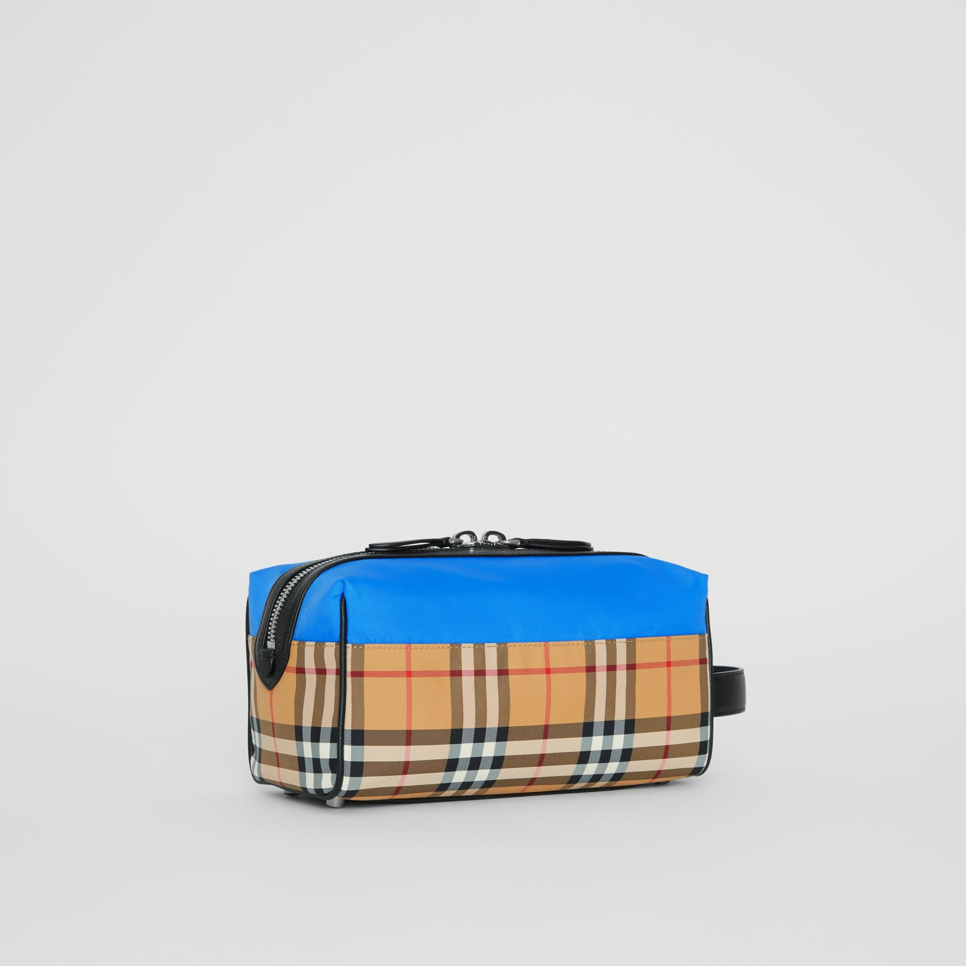 Vintage Check and Colour Block Pouch in Blue/vintage | Burberry - gallery image 6