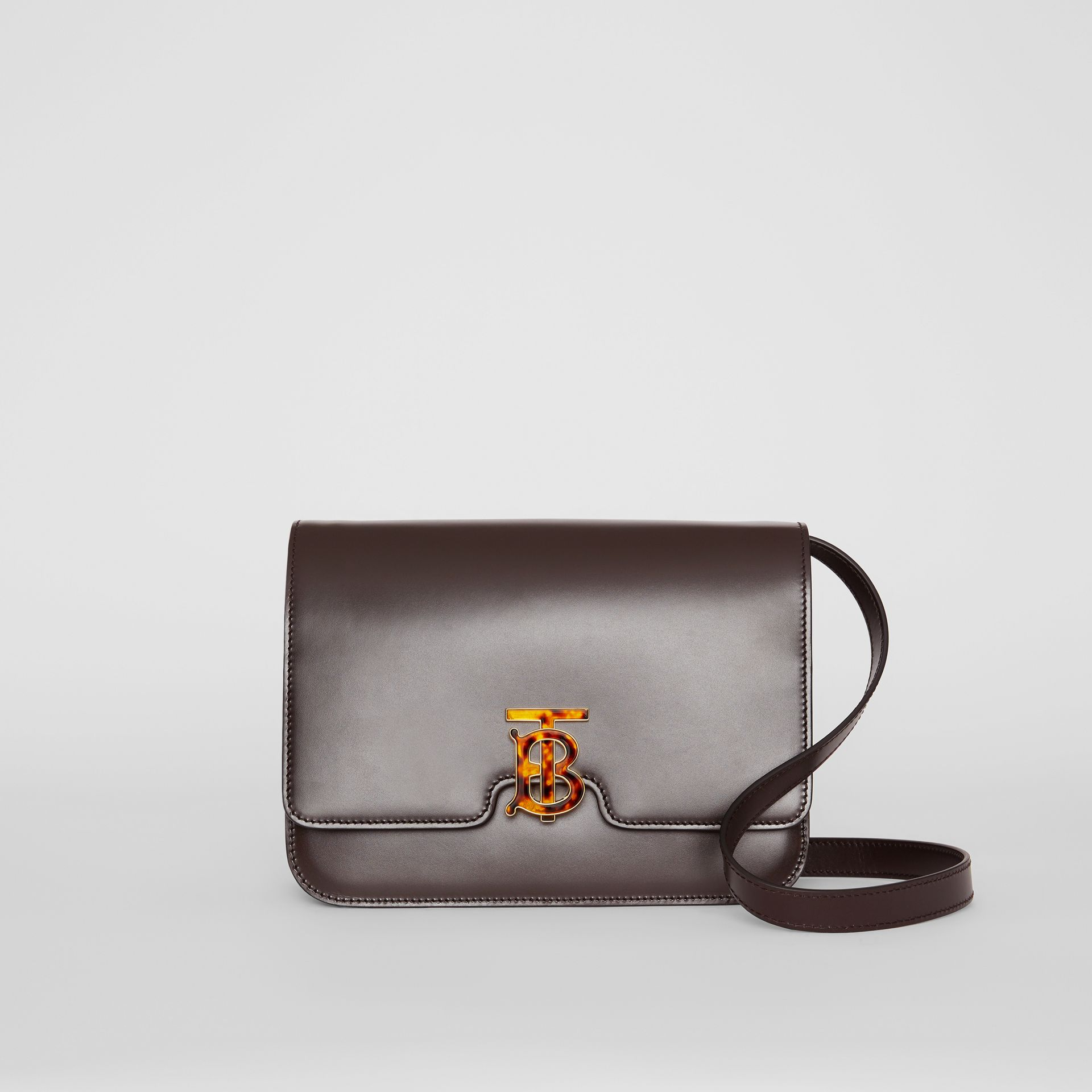 Medium Leather TB Bag in Coffee - Women | Burberry - gallery image 0