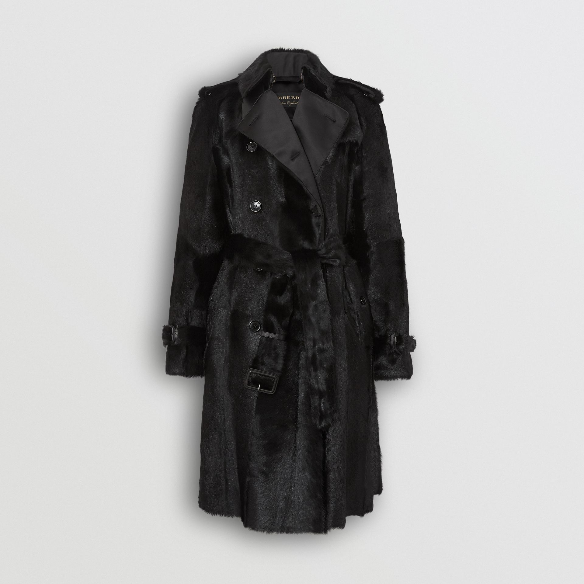 Goat Trench Coat in Black - Women | Burberry - gallery image 3
