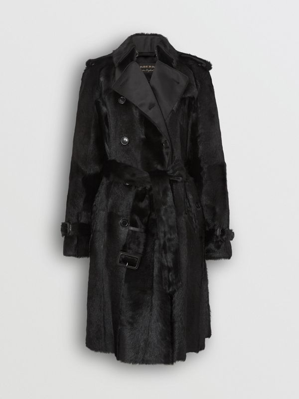 Goat Trench Coat in Black - Women | Burberry United Kingdom - cell image 3