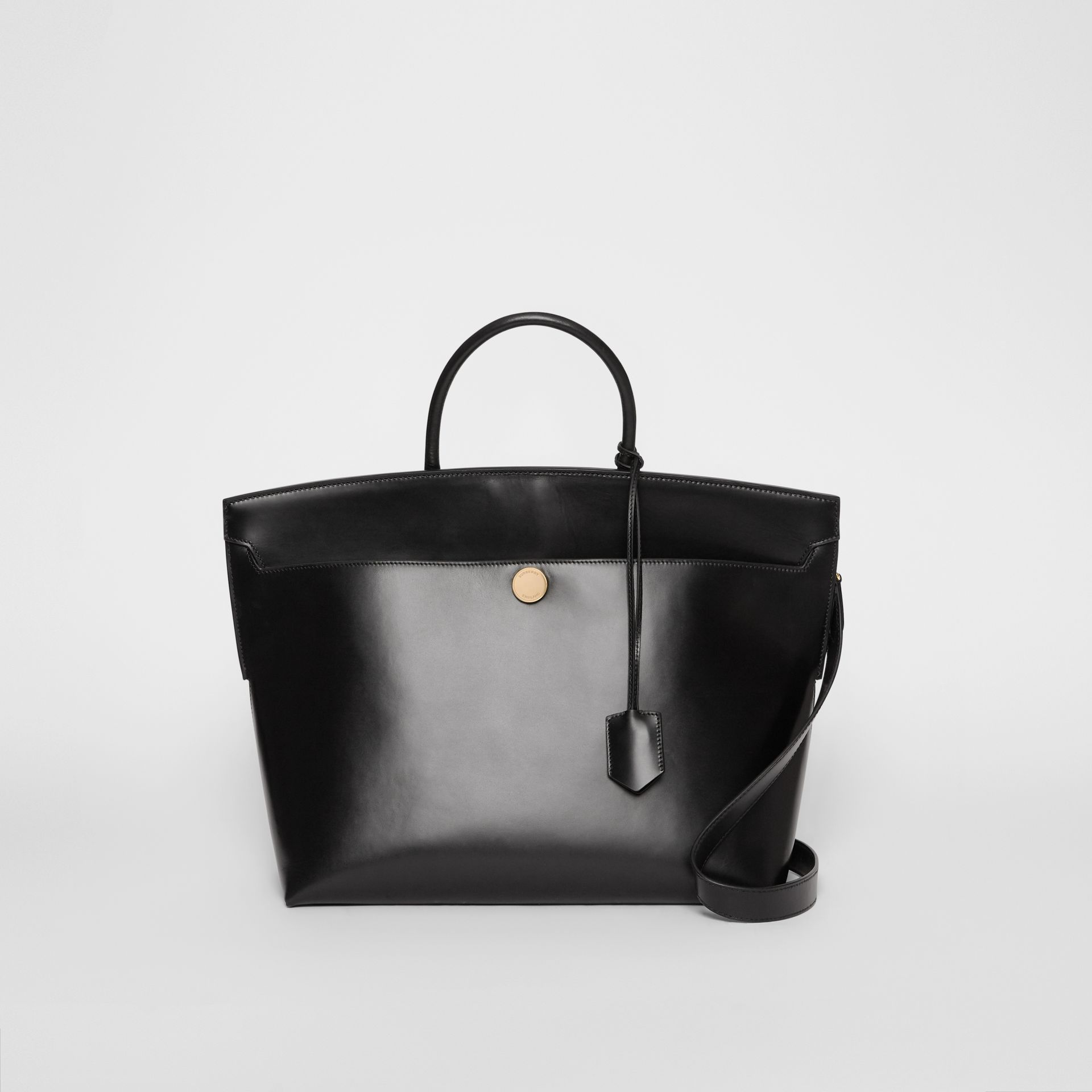 Leather Society Top Handle Bag in Black - Women | Burberry - gallery image 0