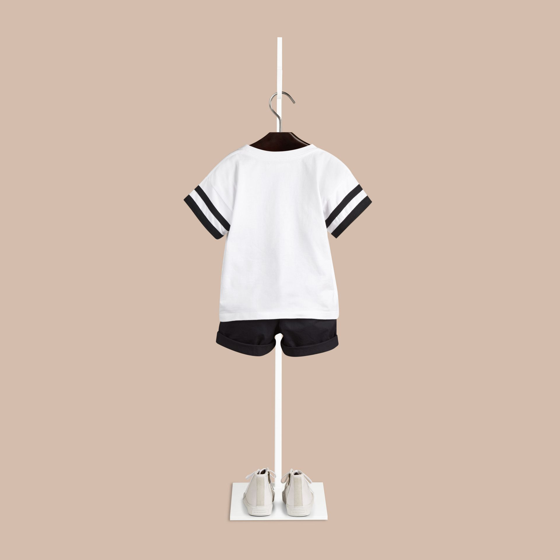 White Zebra Crossing Graphic Cotton T-shirt - gallery image 2