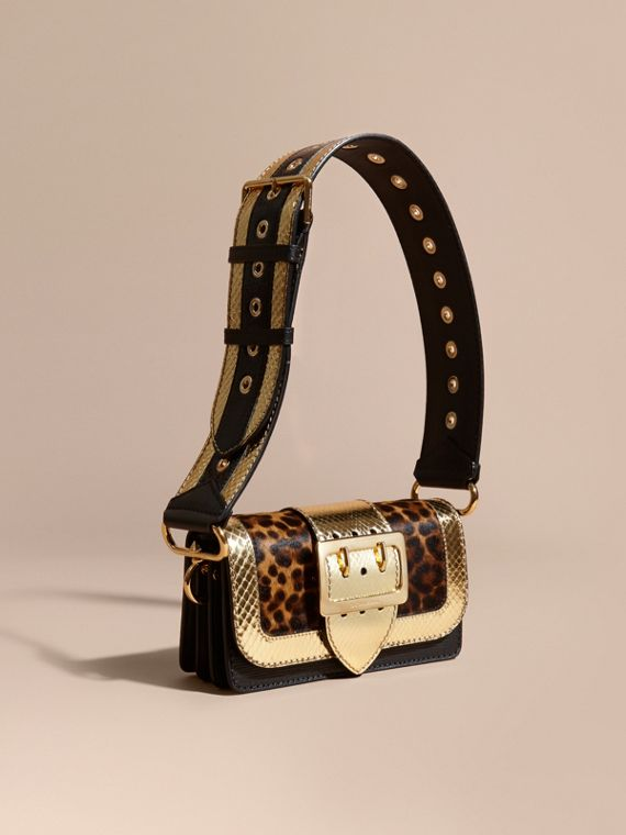 The Patchwork in Leopard-print Calfskin and Textured Leather