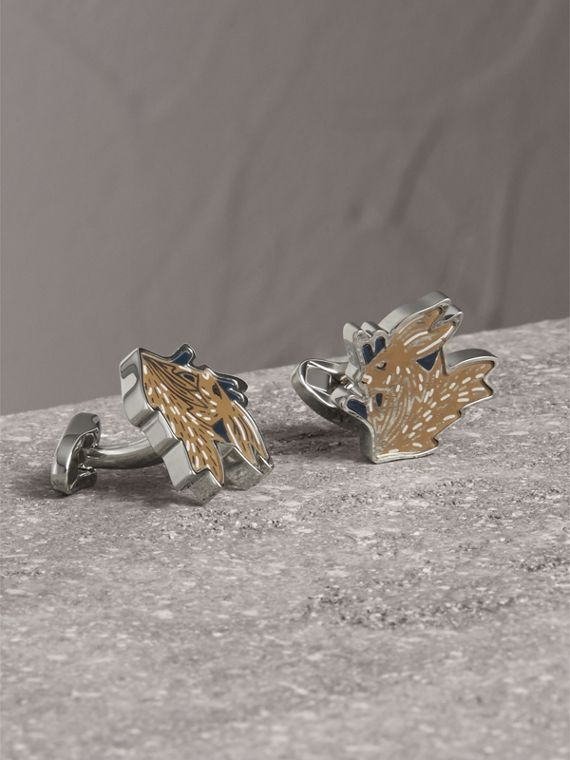 Beasts Brass Cufflinks in Silver