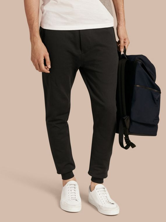 Cotton Sweatpants in Black - Men | Burberry Singapore