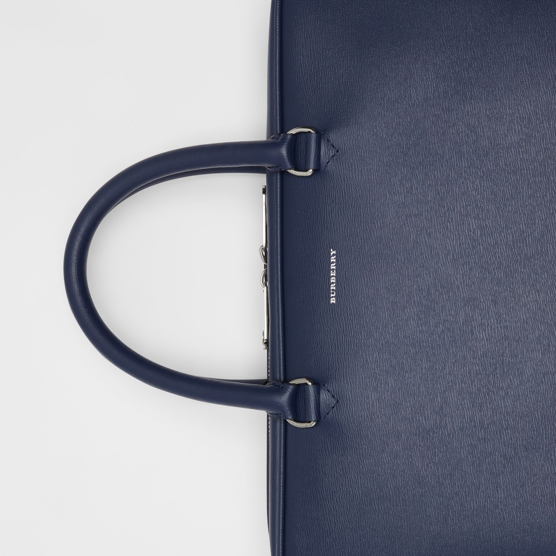 London Leather Briefcase in Navy - Men | Burberry - gallery image 1