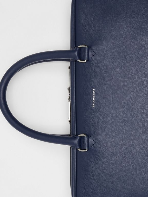 London Leather Briefcase in Navy - Men | Burberry - cell image 1