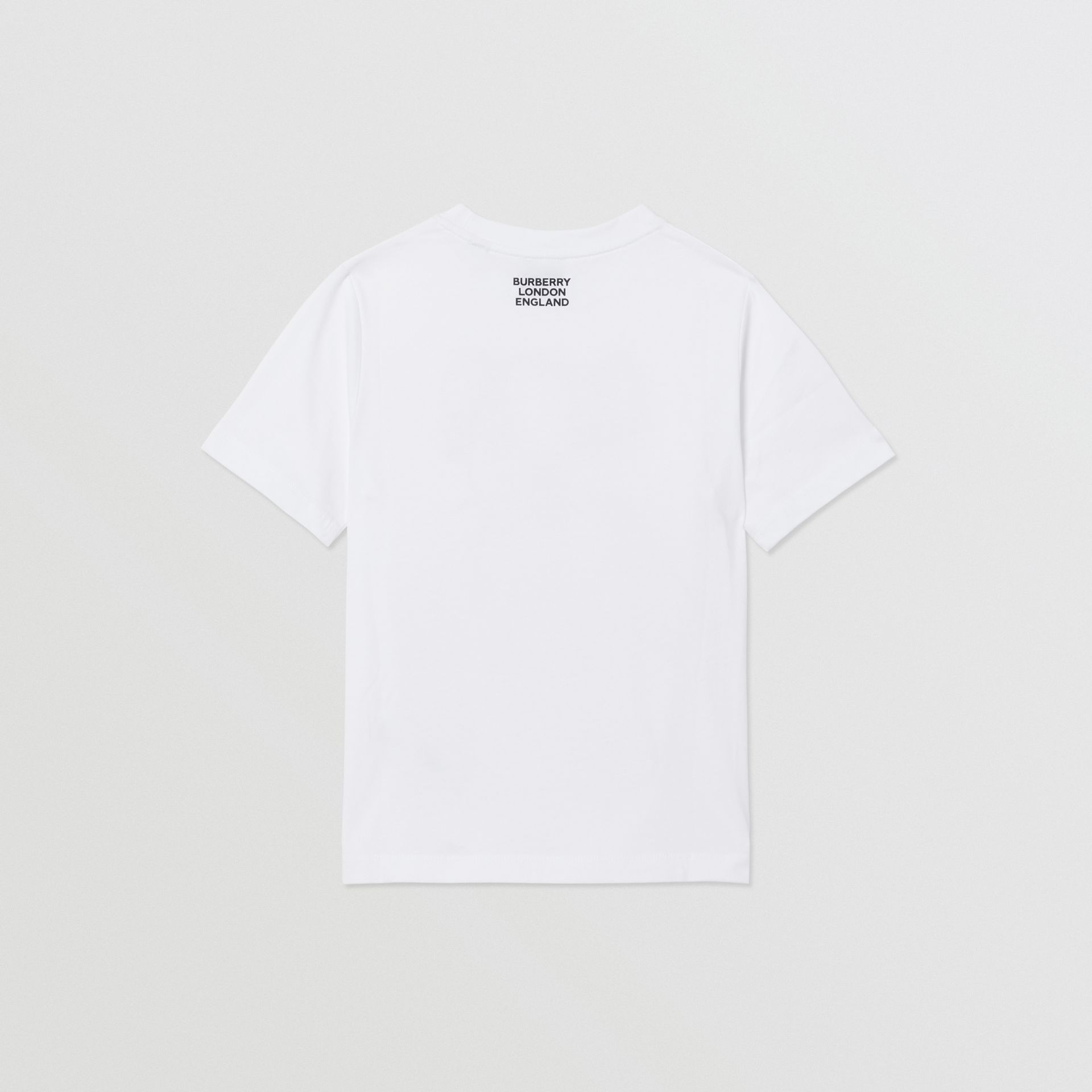 Chain Print Cotton T-shirt in White | Burberry Singapore - gallery image 4