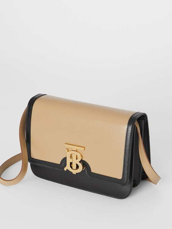 Small Two-tone Leather TB Bag in Honey/black - Women | Burberry - cell image 3