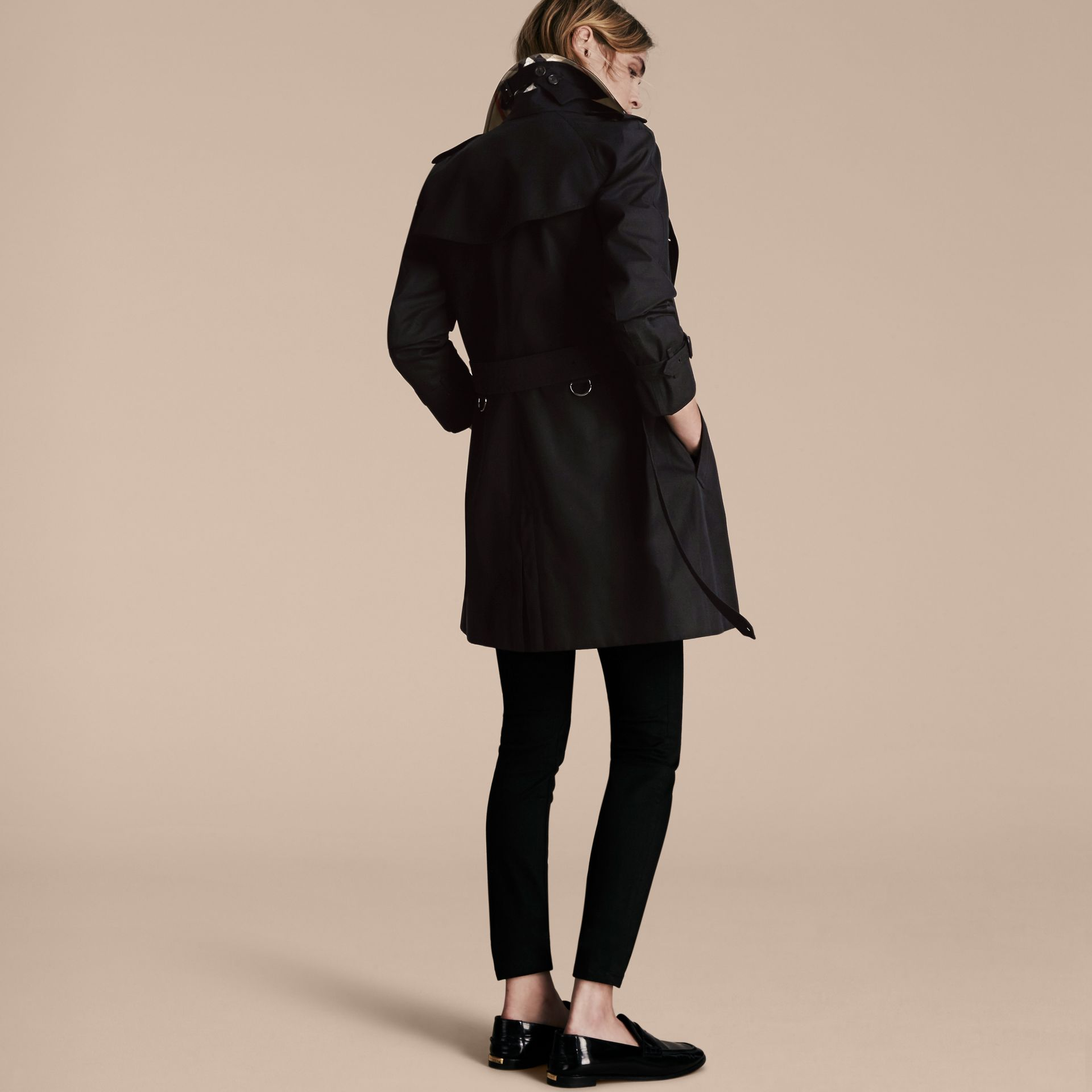 Black The Westminster – Mid-Length Heritage Trench Coat Black - gallery image 3
