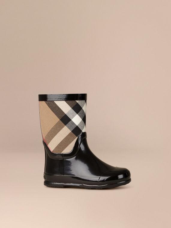 Botas de agua con panel de checks House