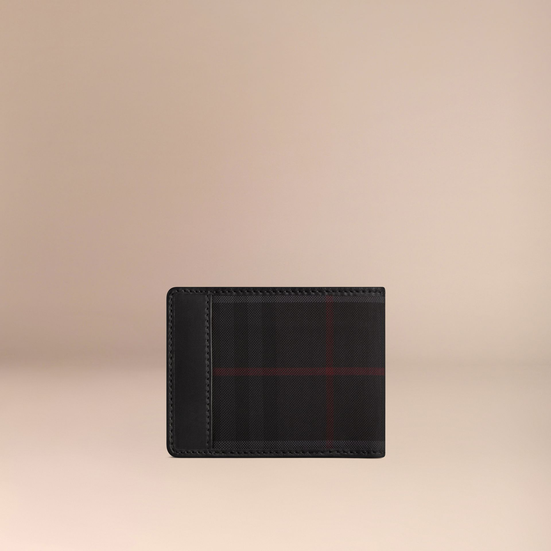 Horseferry Check Wallet Charcoal/black - gallery image 3