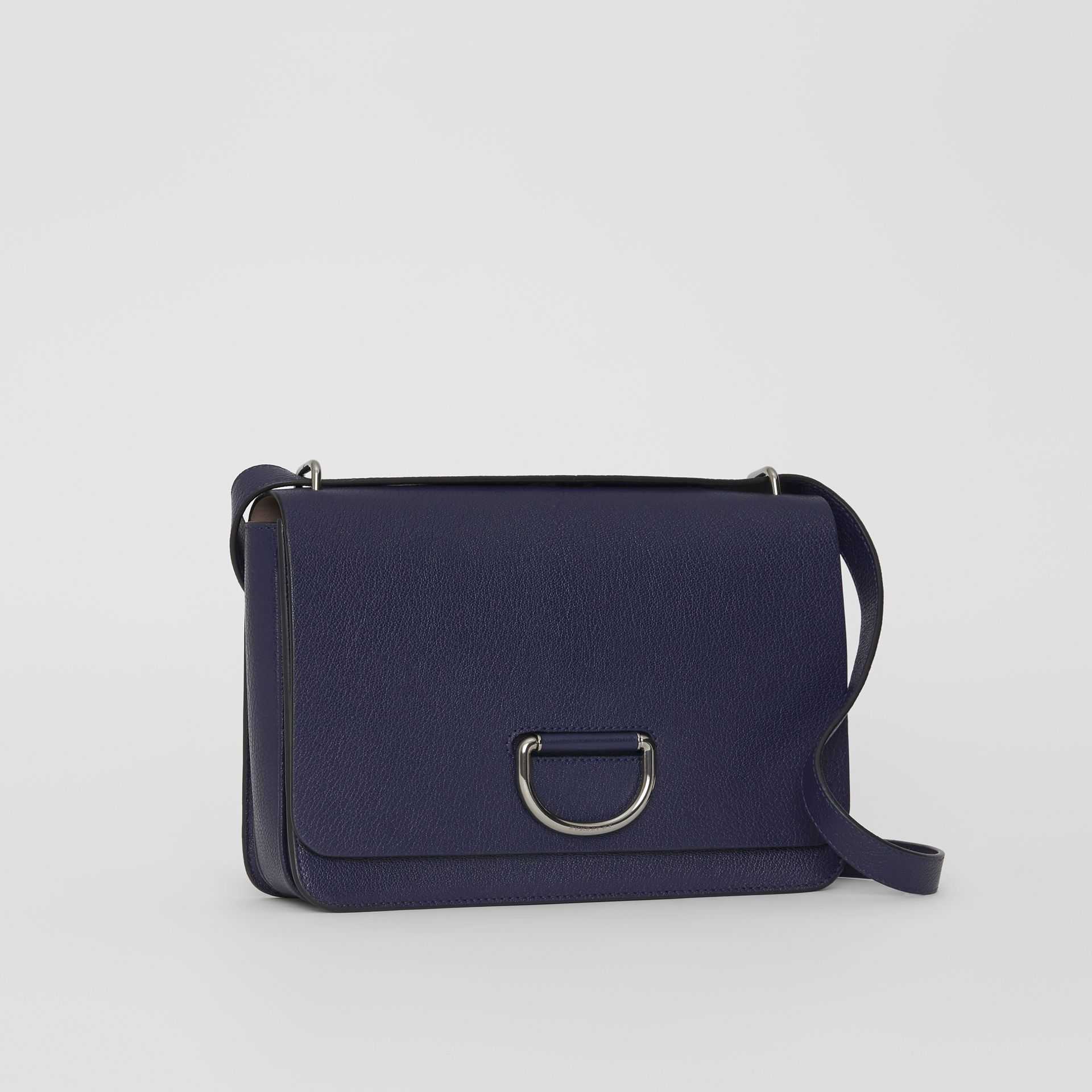 The Medium Leather D-ring Bag in Regency Blue - Women | Burberry - gallery image 7