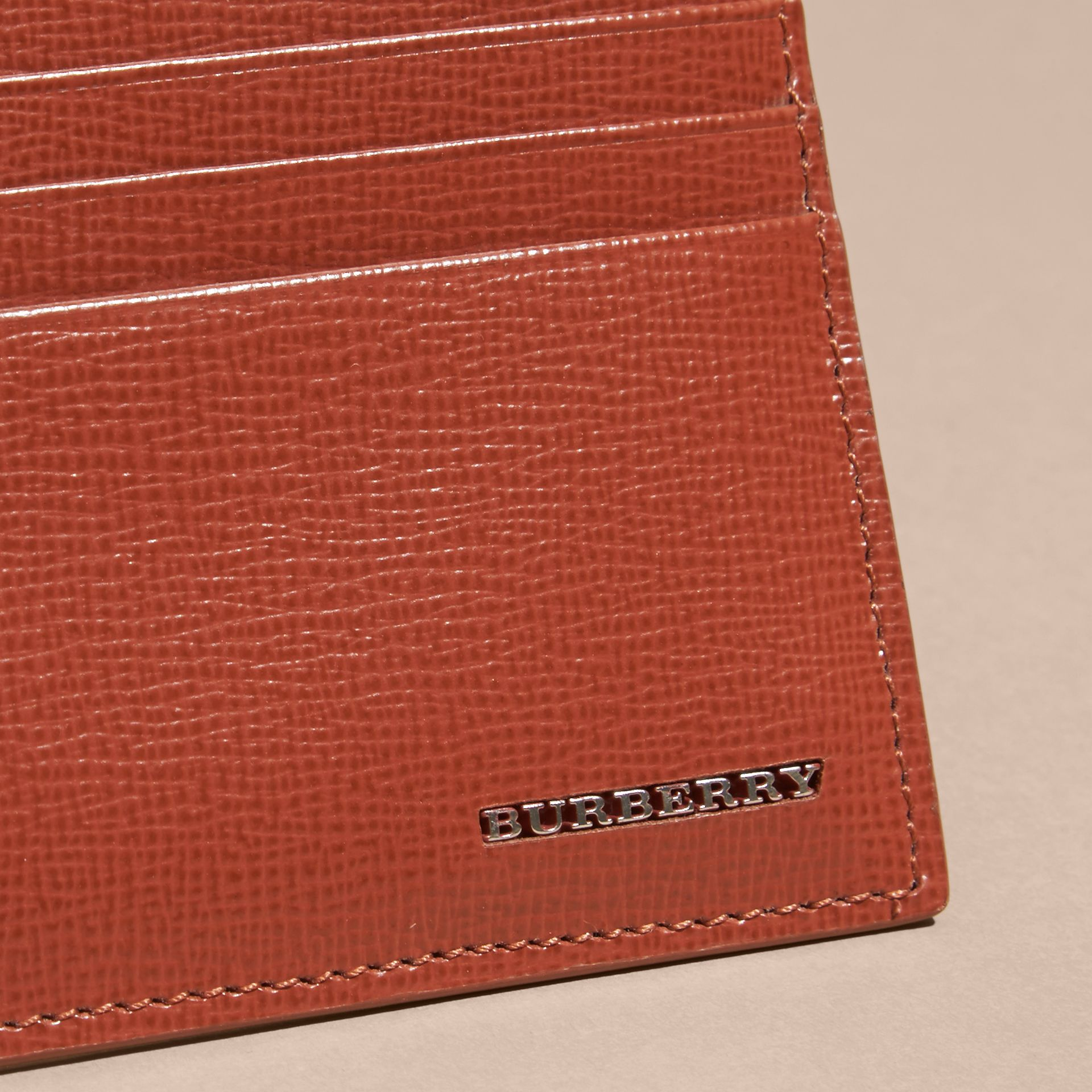 London Leather Card Case in Burnt Sienna - gallery image 3