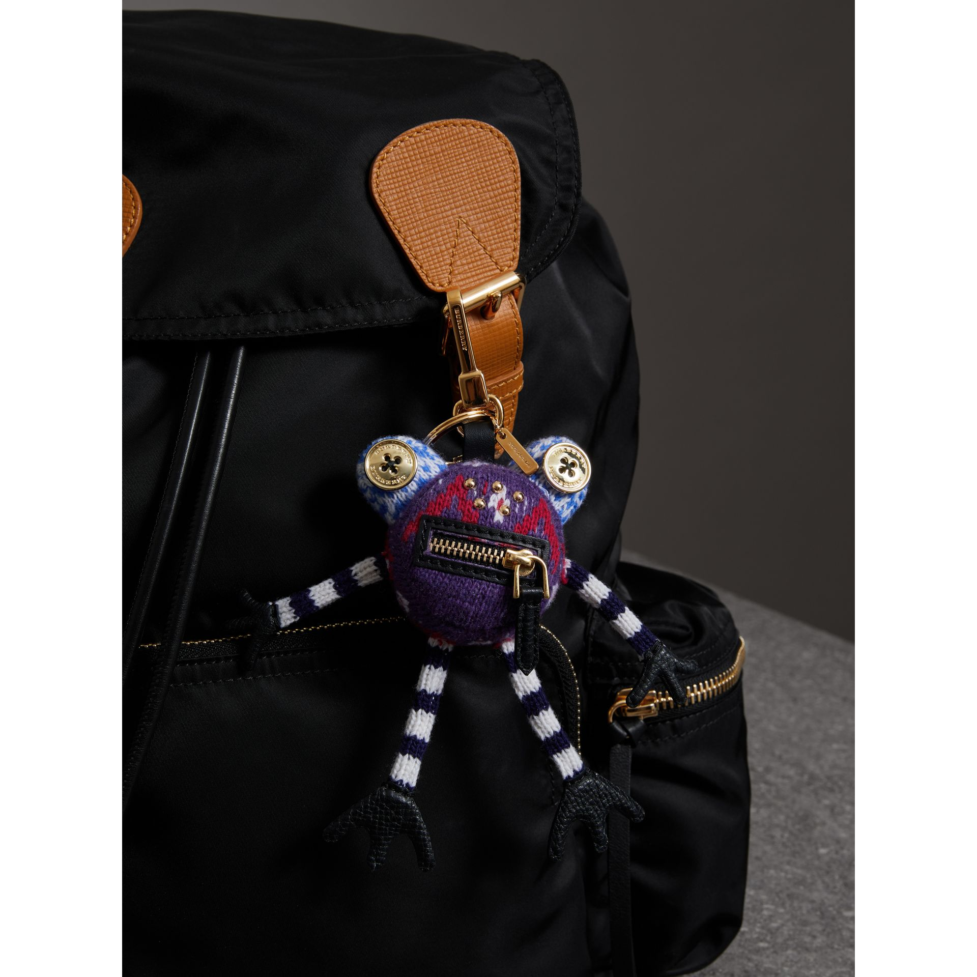 Doris The Frog Wool Charm in Navy | Burberry United Kingdom - gallery image 2