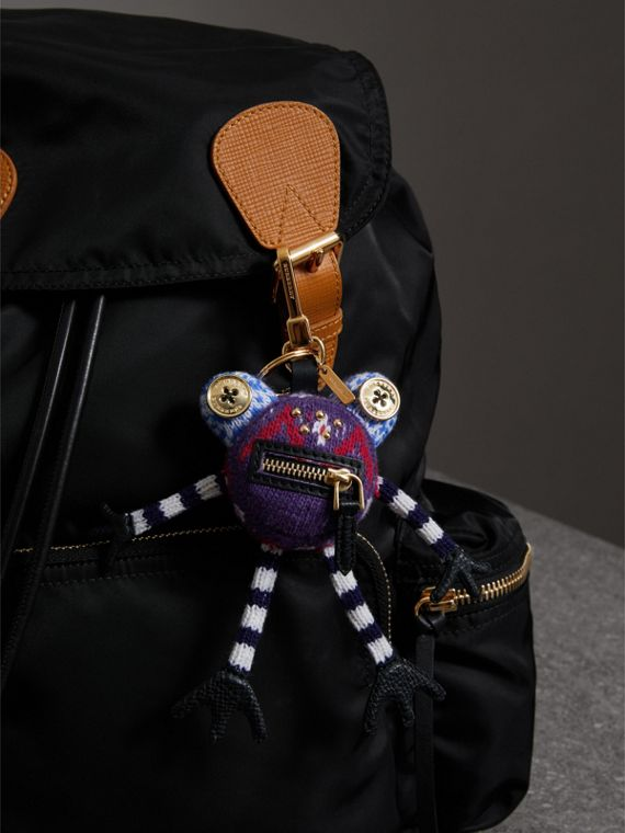 Doris The Frog Wool Charm in Navy | Burberry - cell image 2