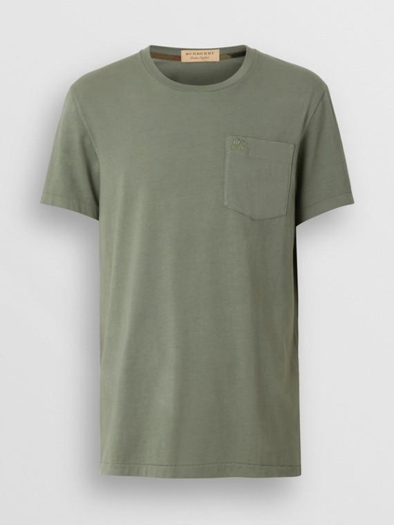 T-shirt en coton (Vert Argile)