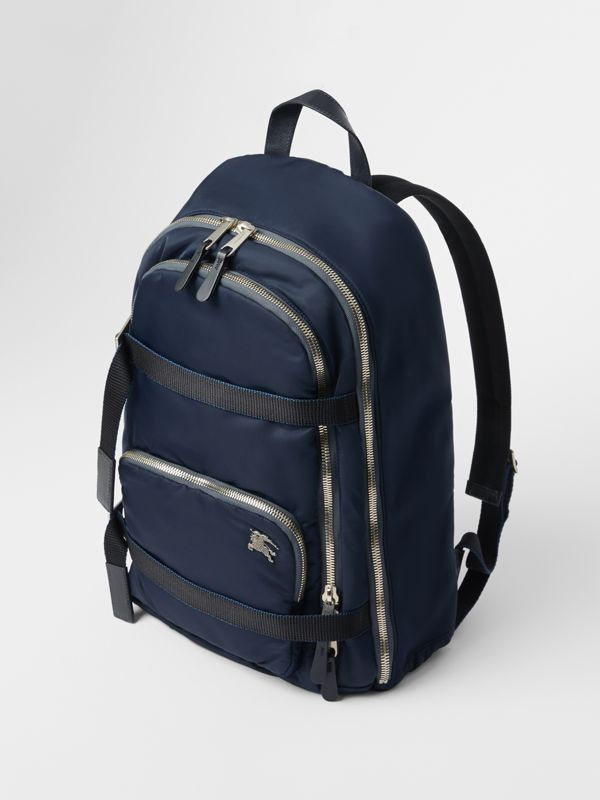 Large EKD Aviator Nylon Backpack in Ink Blue - Men | Burberry - cell image 2