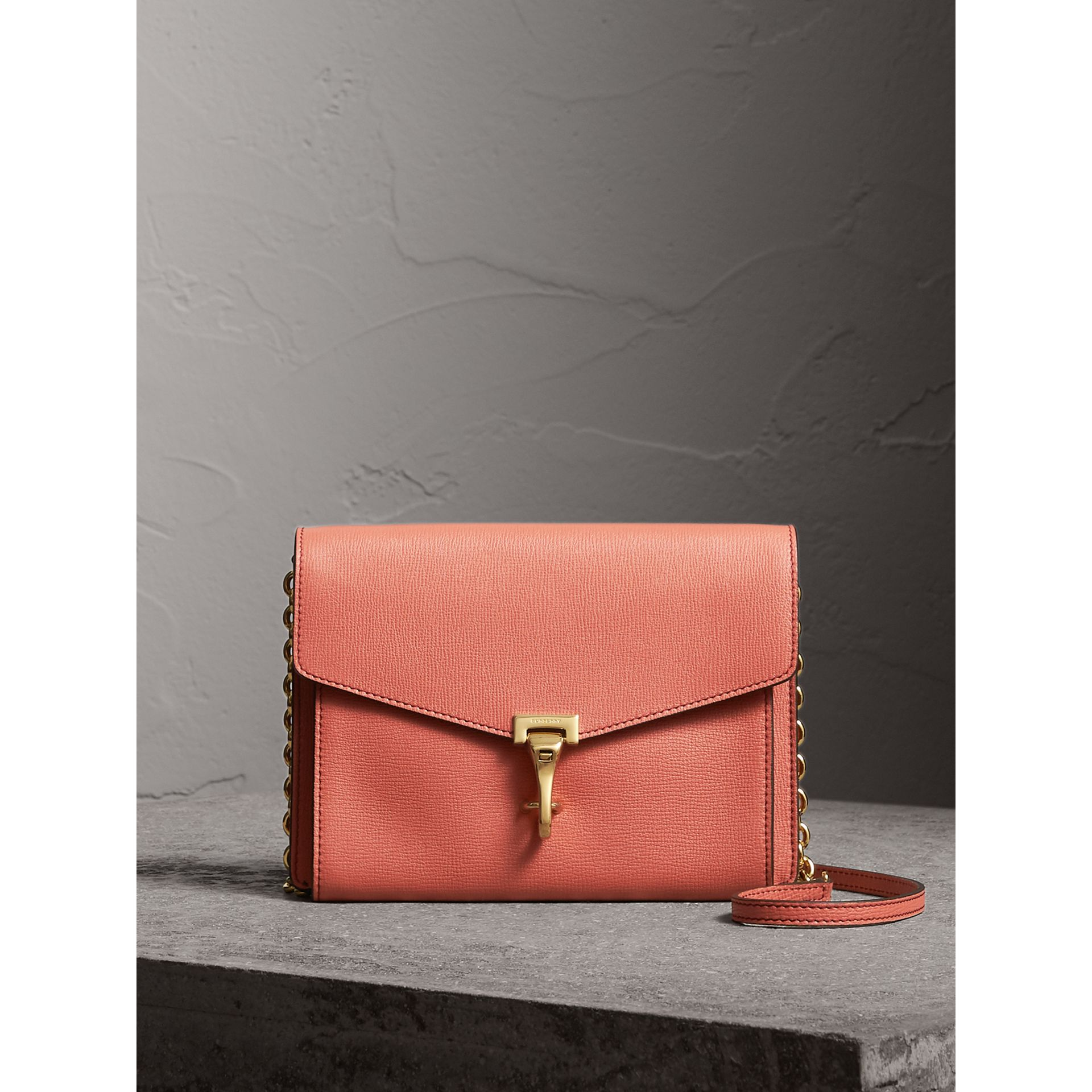 Small Leather Crossbody Bag in Cinnamon Red - Women | Burberry - gallery image 1