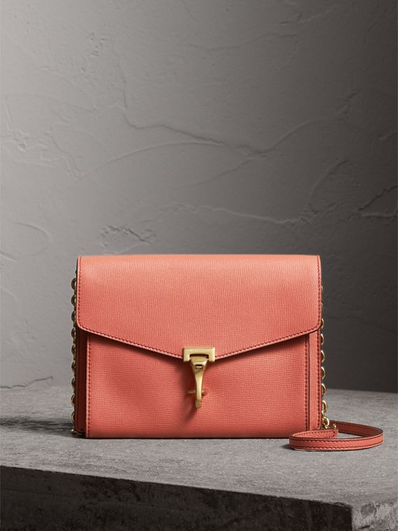 Small Leather Crossbody Bag in Cinnamon Red