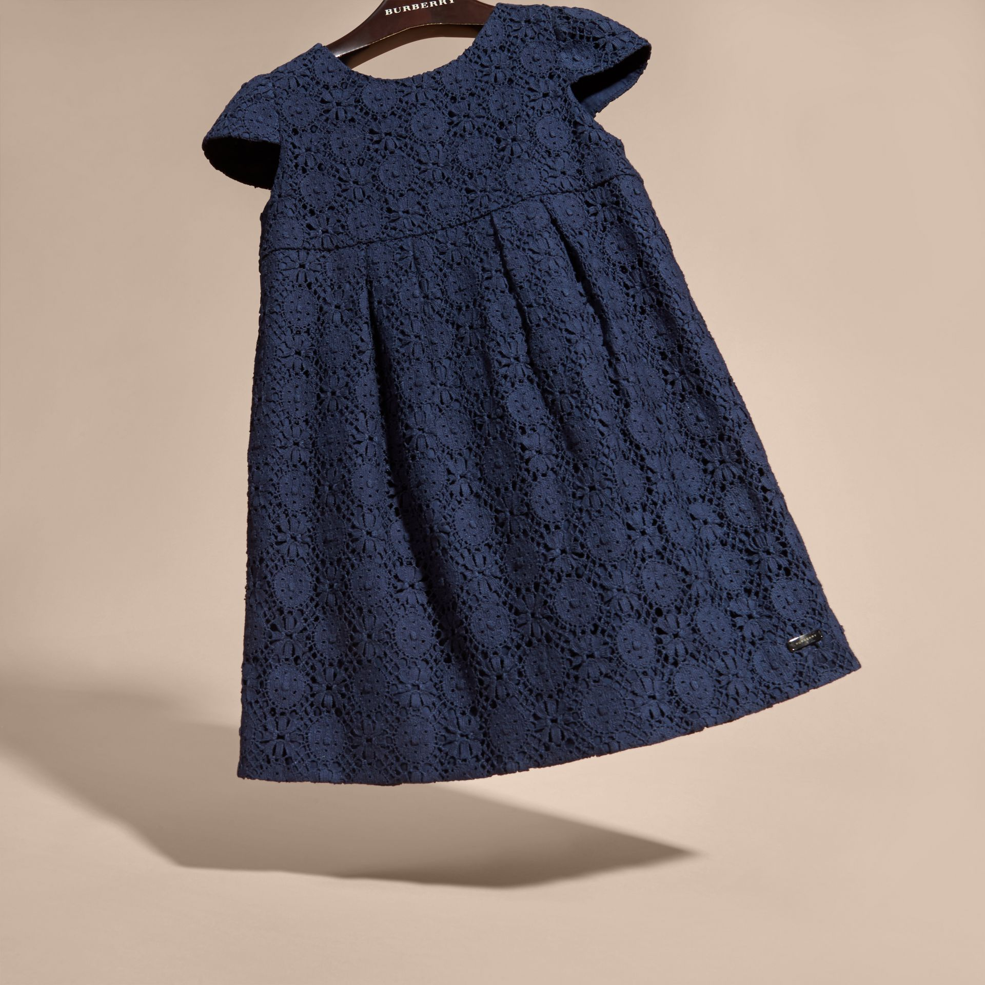 Navy English Lace Dress Navy - gallery image 3