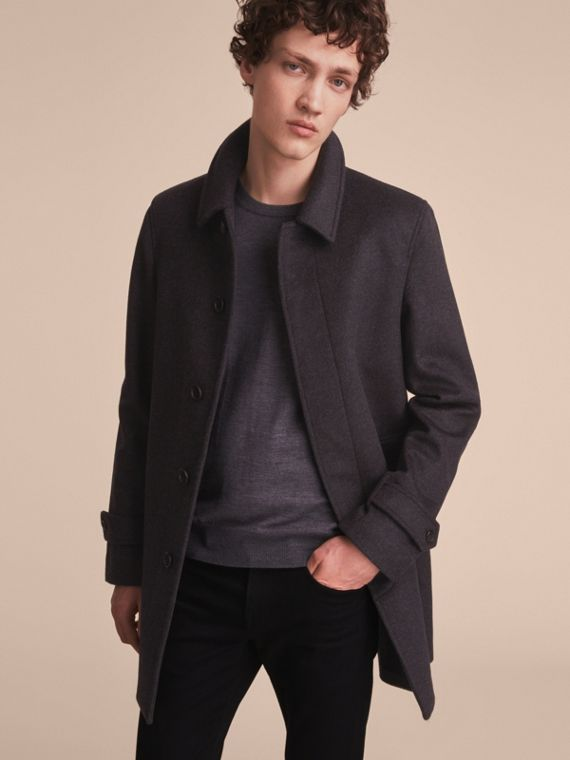 Virgin Wool Cashmere Car Coat