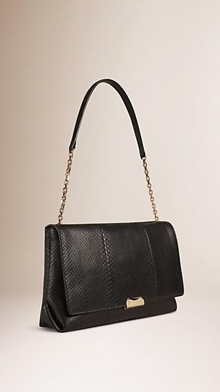 Large Python Shoulder Bag