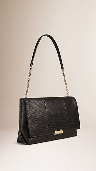 Large Python Shoulder Bag