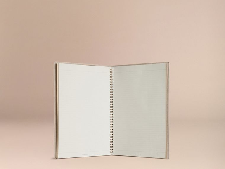 Grainy Leather A4 Notebook in Stone | Burberry - cell image 4