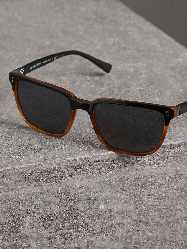 Square Frame Sunglasses in Light Brown - Men | Burberry Australia - cell image 2