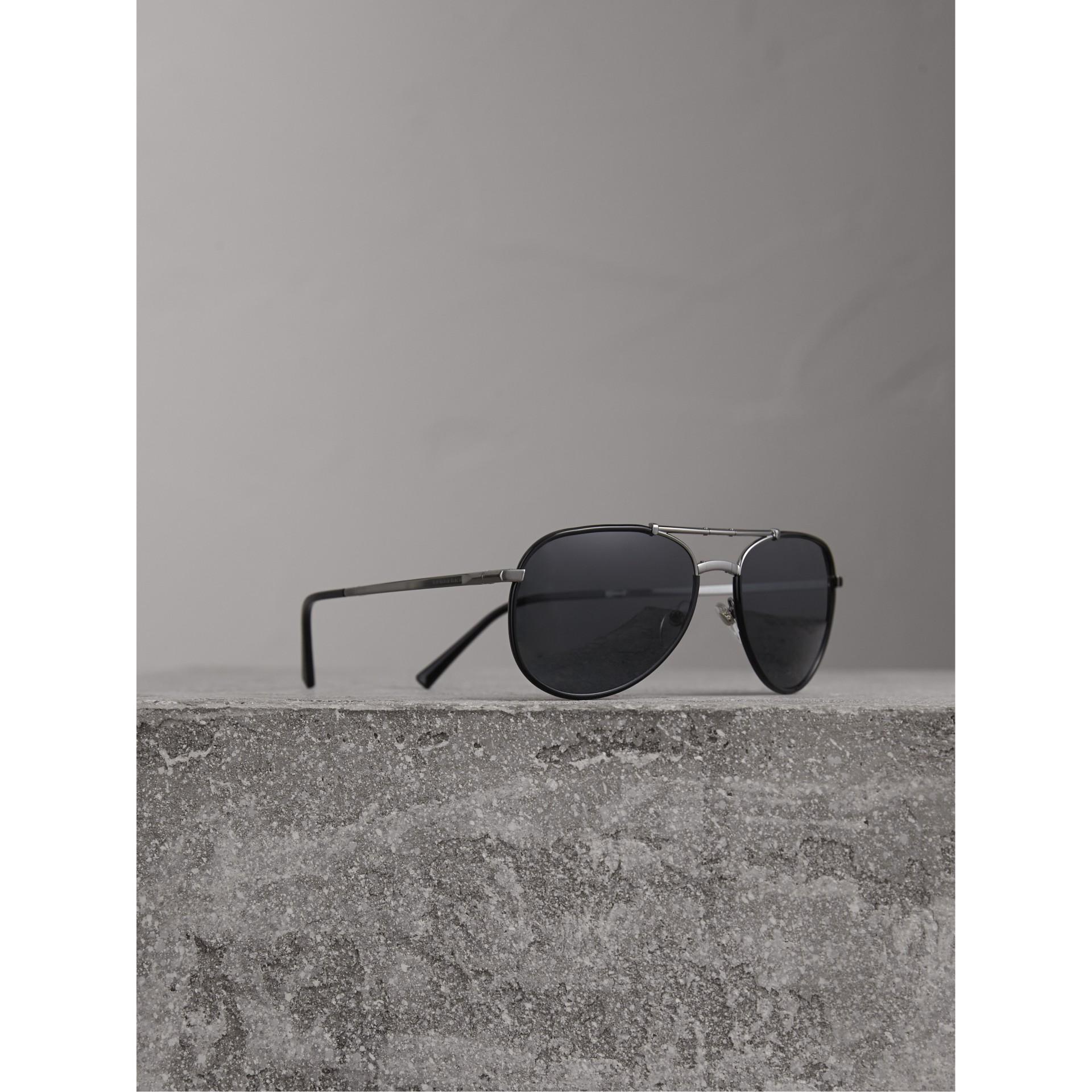 b4dd1a16a187 Burberry Men S Honey Check Aviator Sunglasses