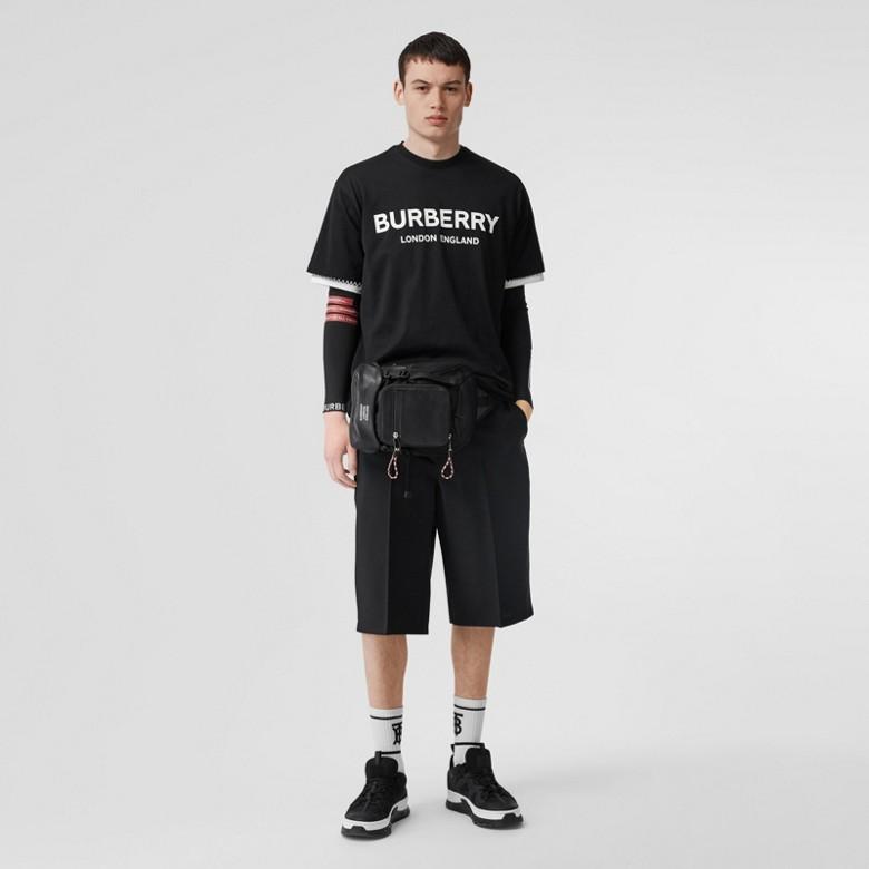 Burberry - Sac à dos ceinture Leo en cuir avec logo - 6
