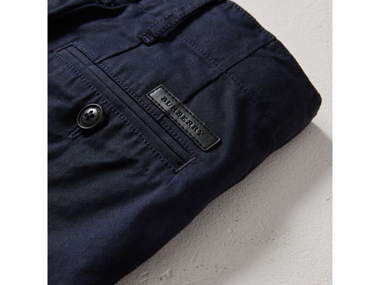 Cotton Chinos in Ink - Boy | Burberry United States - cell image 1