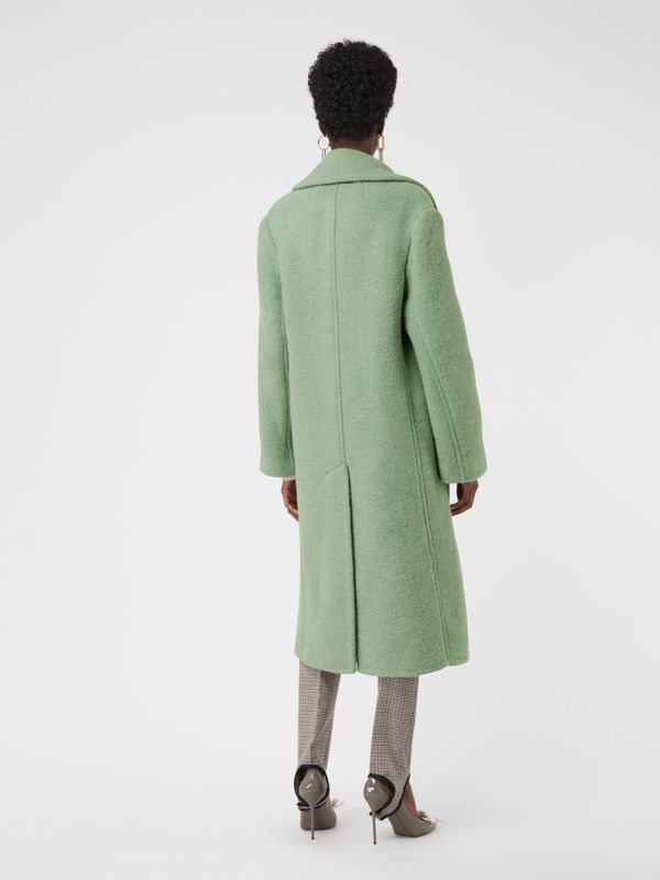 Double-faced Wool Alpaca Blend Cocoon Coat in Celadon Green - Women | Burberry - cell image 2