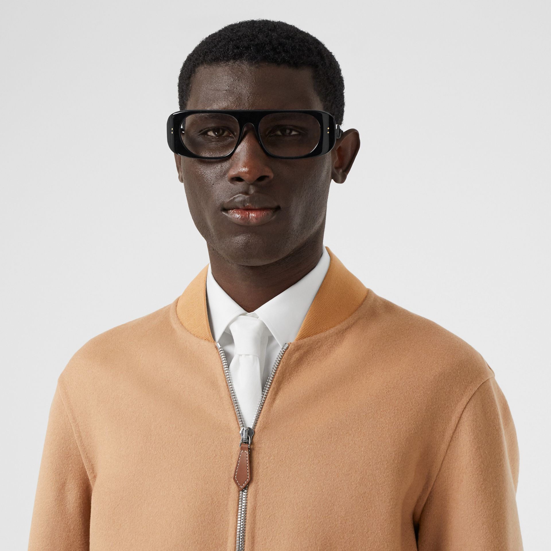 Double-faced Cashmere Bomber Jacket in Dark Camel - Men | Burberry - gallery image 1