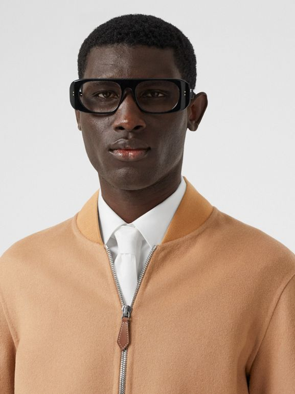 Double-faced Cashmere Bomber Jacket in Dark Camel - Men | Burberry - cell image 1