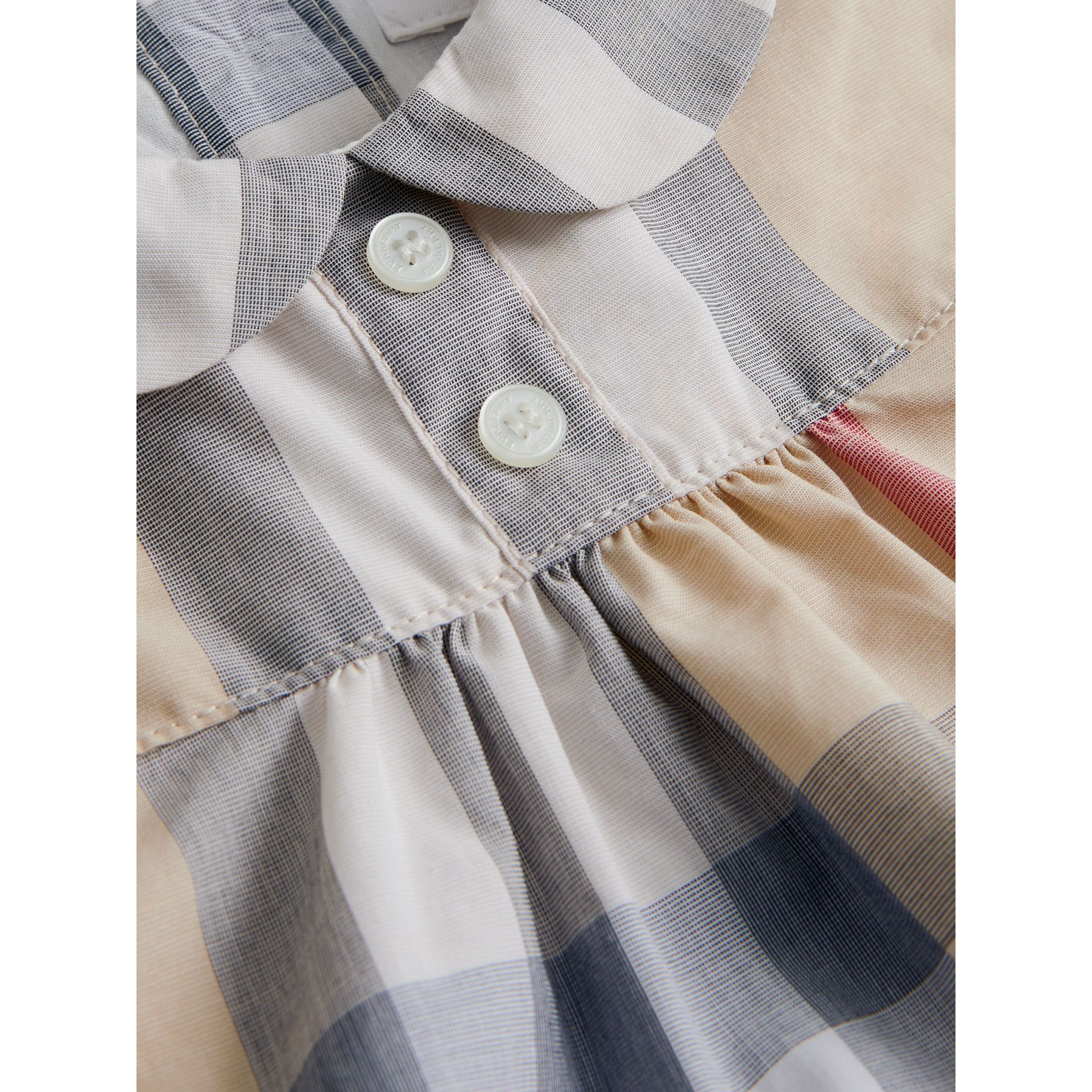 Washed Check Cotton Dress in Pale Classic - Girl | Burberry Canada - gallery image 1
