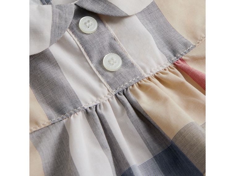 Washed Check Cotton Dress in Pale Classic - Girl | Burberry Canada - cell image 1